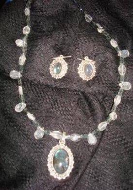 Blue Topaz and Jasper Necklace